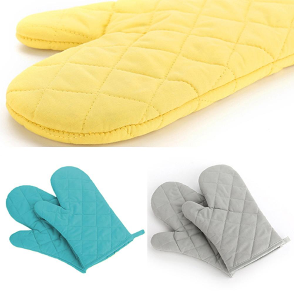 Cotton Oven Mitt Heat Proof Resistant Protector Kitchen Cooking Pot Holder Glove two layers new producet white cotton heat resistant glove safety working glove cotton glove oven glove protect hands