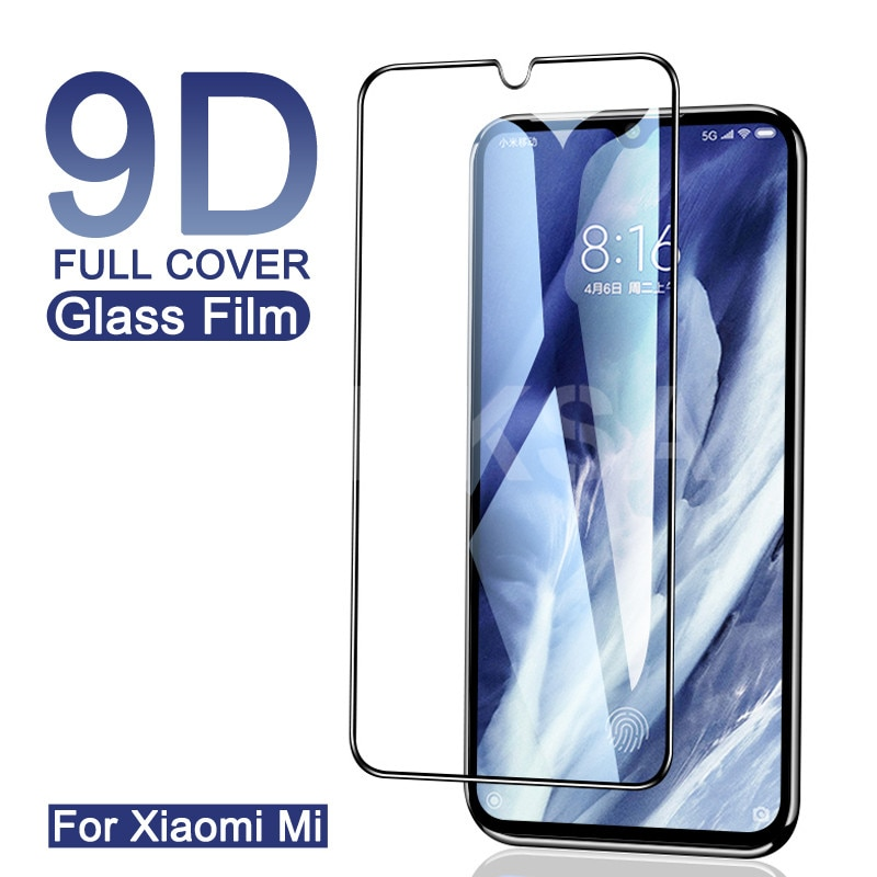 Vidro temperado de cobertura completa 9d, para xiaomi mi 9 8 se a3 lite 9t play f1 cc9 película de vidro de segurança cc9e,