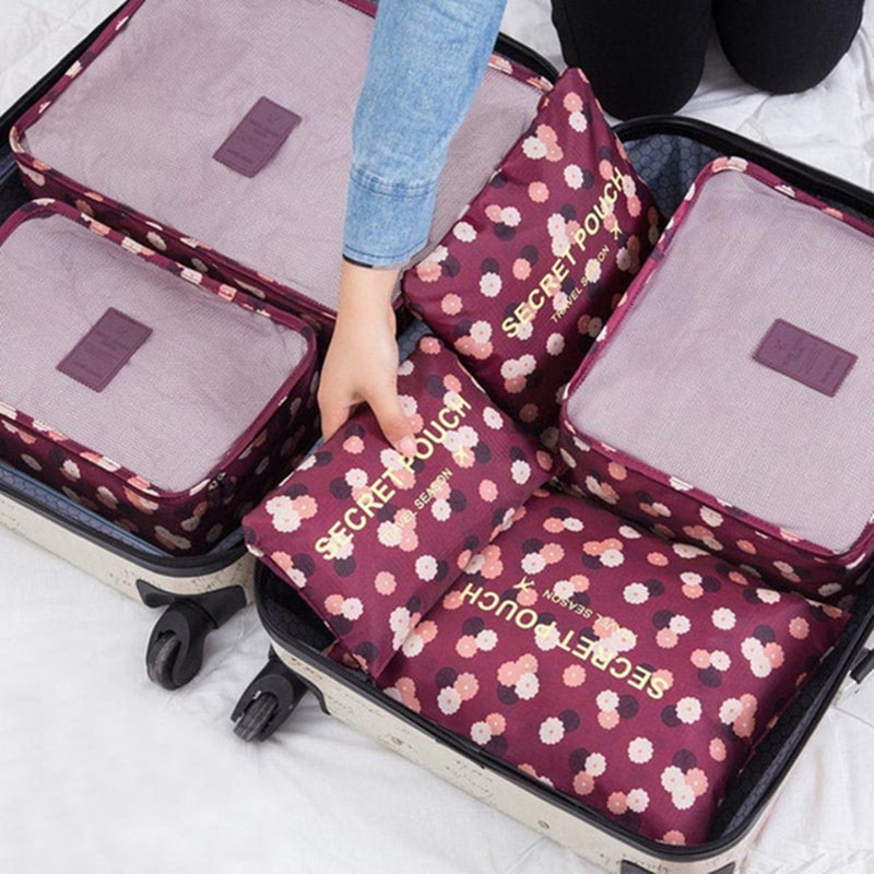 Cosyde 6 unids/set de bolsas organizadoras de viaje para equipaje, proyecto impermeable, organizador de embalaje, bolsas de viaje, ropa, accesorios de viaje, bolsas