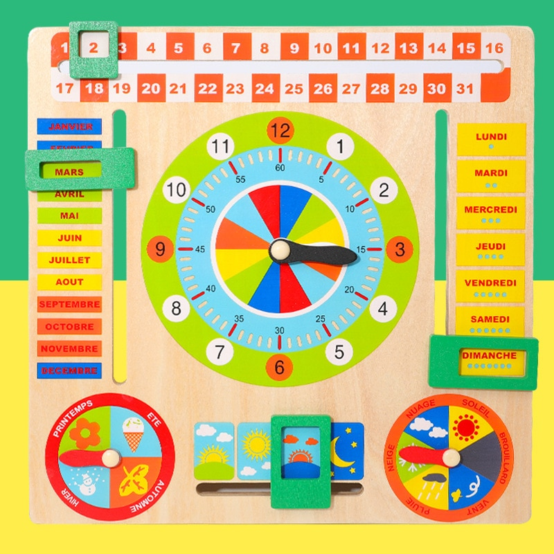 Тизеры из дерева для Настольная игра Montessori погода сезон время когнитивные головоломки для детей раннего обучения Развивающие игрушки Фигу...