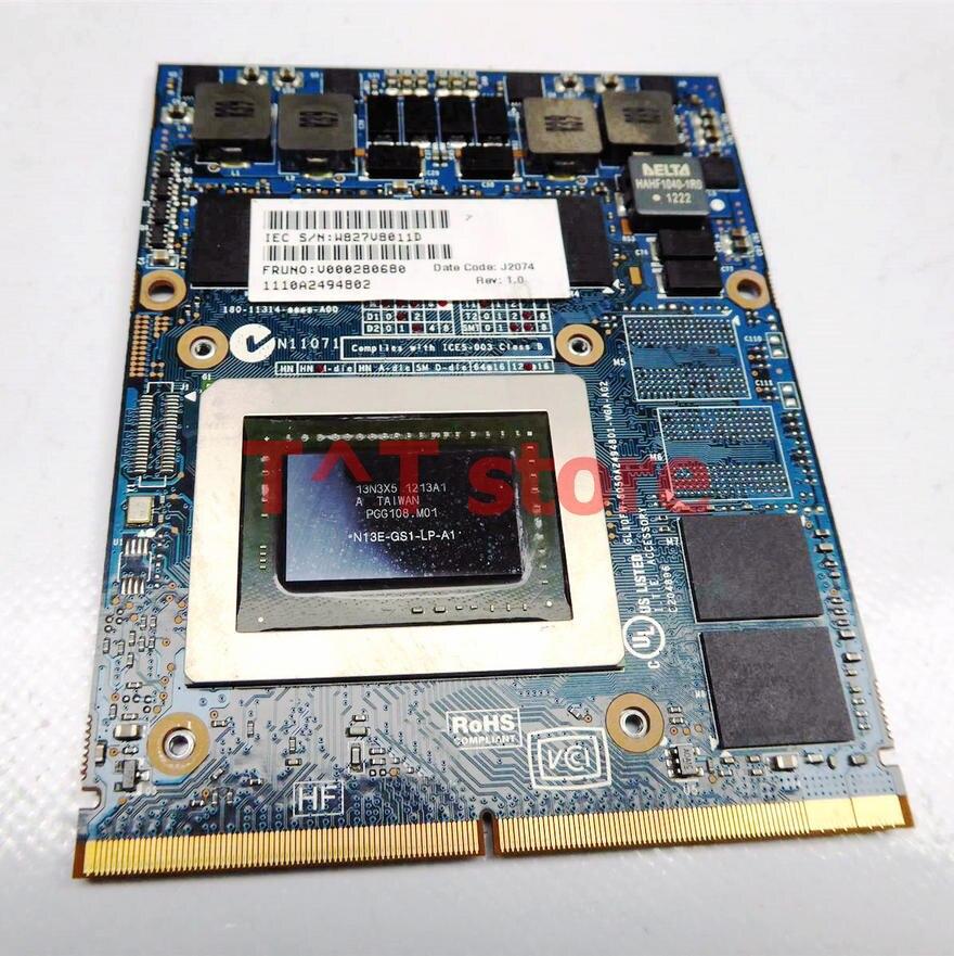 الأصلي V000280680 GTX 670M GTX670M لتوشيبا X875 X870 X775 X770 الرسومات VGA فيديو بطاقة 6050A2494B01-VGA-A02 N13E-GS-LP-A1