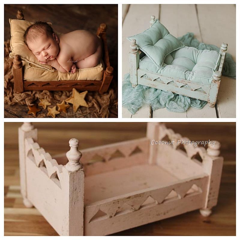 Кокосовый реквизит для фотосъемки новорожденных, портативные детские кроватки, деревянные полная луна, кроватки, аксессуары, детская мебел...