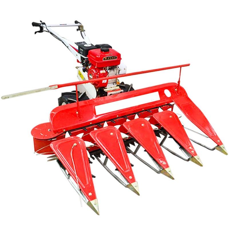Farm machinery 8hp diesel air-cooled multi-function wheat rice soybean pepper alfalfa wormwood hand-push harvester
