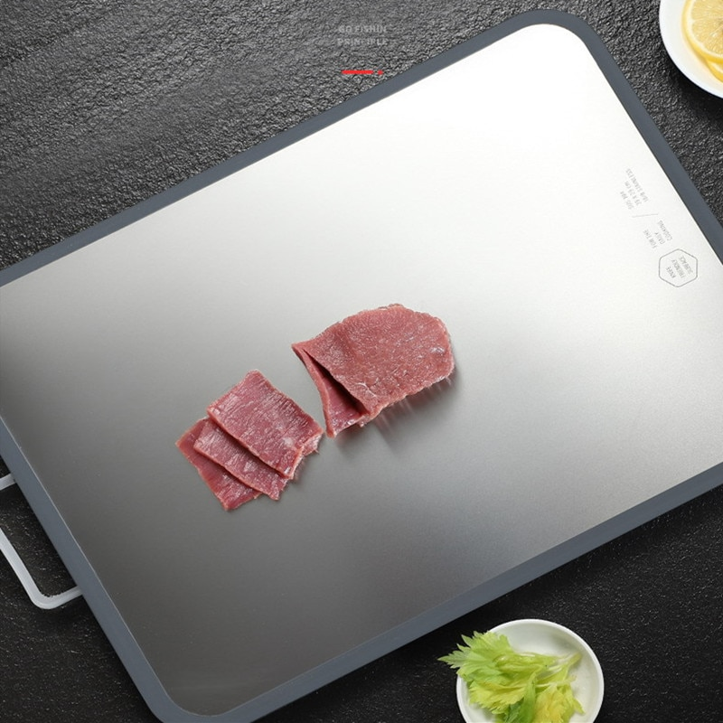Kitchen stainless steel chopping board, double-sided cutting board, Quality PP cutting board kitchenware