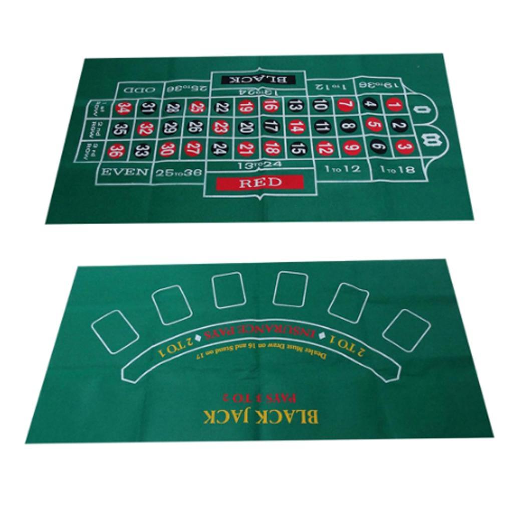 Двусторонний тканевый коврик для игры в рулетку, казино, стол, скатерть, аксессуары для игр, 24X47-3