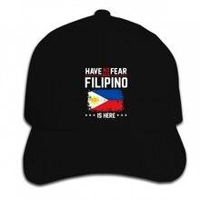 Print Custom Baseball Cap Hip Hop Funny Men Women novelty Philippines Flag Have no Fear Filipino Pride Hat Peaked cap
