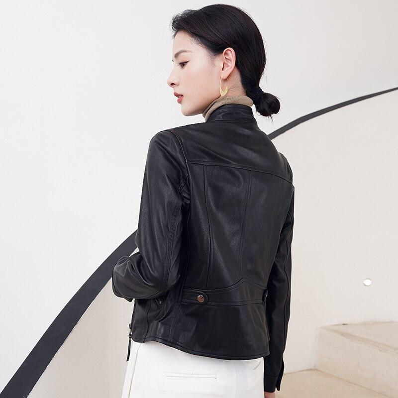 قصيرة ضئيلة الملابس الجلدية والجلود النسخة الكورية 2020 جديد قاطرة الخريف الربيع والخريف سترة جلدية سترة صغيرة