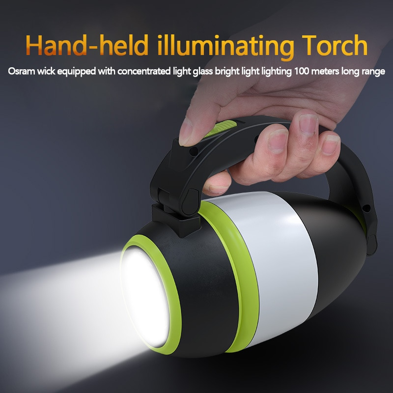 Mesa multifuncional potente linterna Led linterna Usb recargable linterna táctica coche lámpara de mano emergencia Camping noche