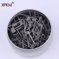 XFKM 50/100 шт. скрученный плавленый улей катушки клаптона готовая обертка Alien Mix скрученный Quad Tiger сопротивление нагреву спираль rda