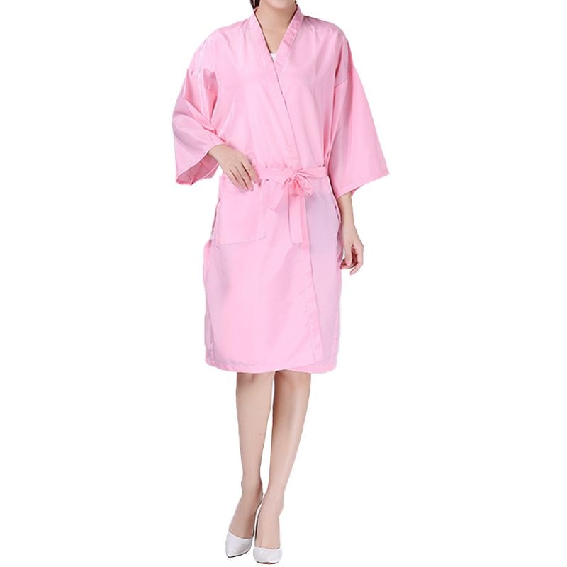 Salón de belleza bata Hotel Spa bata de invitados peluquería corte de pelo Kimono peluquería cabo delantal vestido en pelo tinte champú maquillaje