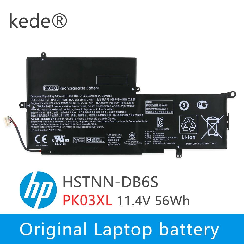 Kede 11,4 V 56wh PK03XL Оригинальный аккумулятор для ноутбука hp Spectre Pro X360 Spectre 13 PK03XL HSTNN-DB6S 6789116-005