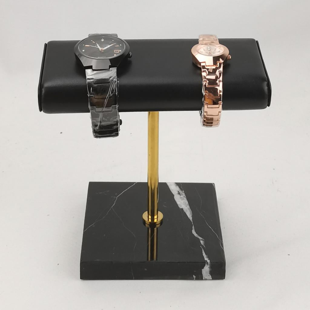 Stable Marble & PU Leather Watch Holder Display Stand for Jewelry Bracelet Bangle Watch Strap Case J