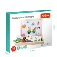 magnetic puzzles cartoon girl changing clothes game animals jigsaw drawing board learning educational wooden toys children gift