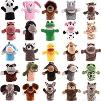 25cm animal hand puppet cartoon plush toys baby educational animal hand puppets pretend telling story doll toy for children kid