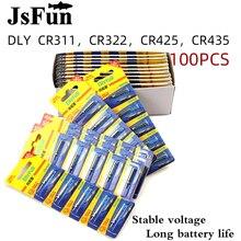 100 sztuk baterie Fishing Float baterii Pin komórki CR311 CR322 CR425 CR435 noc wędkarskiego Luminous Float akcesoria PJ292