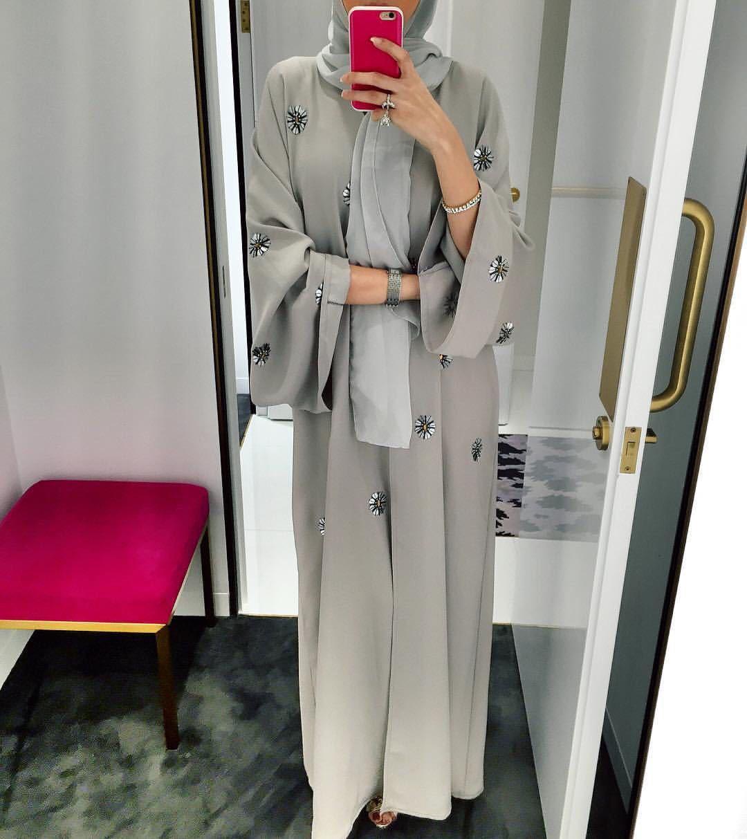قفطان مفتوح عباية دبي تركيا كيمونو كارديجان رداء إسلامي للحجاب فستان جلباب عبايات للنساء قفطان العيد ملابس إسلامية