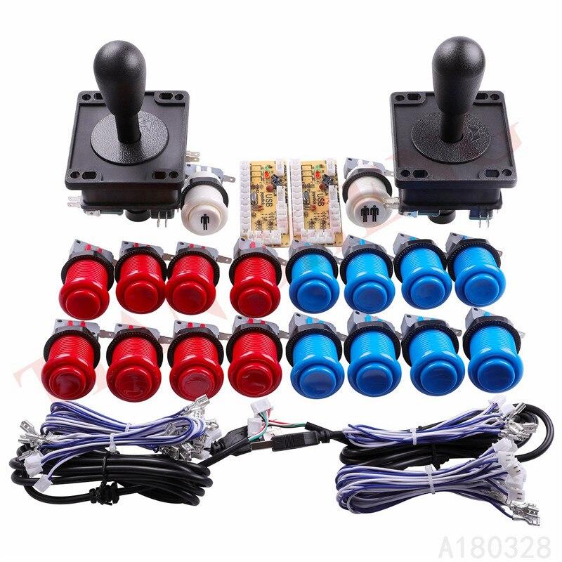 Piezas de juego Arcade clásico para Mame, USB Cabinet 2xZero Delay USB...