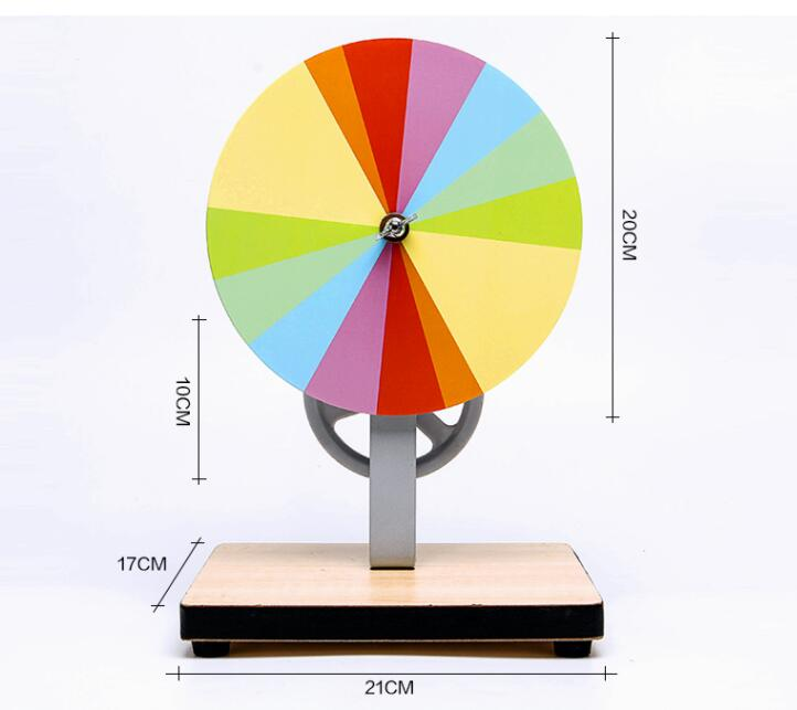 Hand-operated Newton disc seven color plate seven color plate students physics and optics teaching i