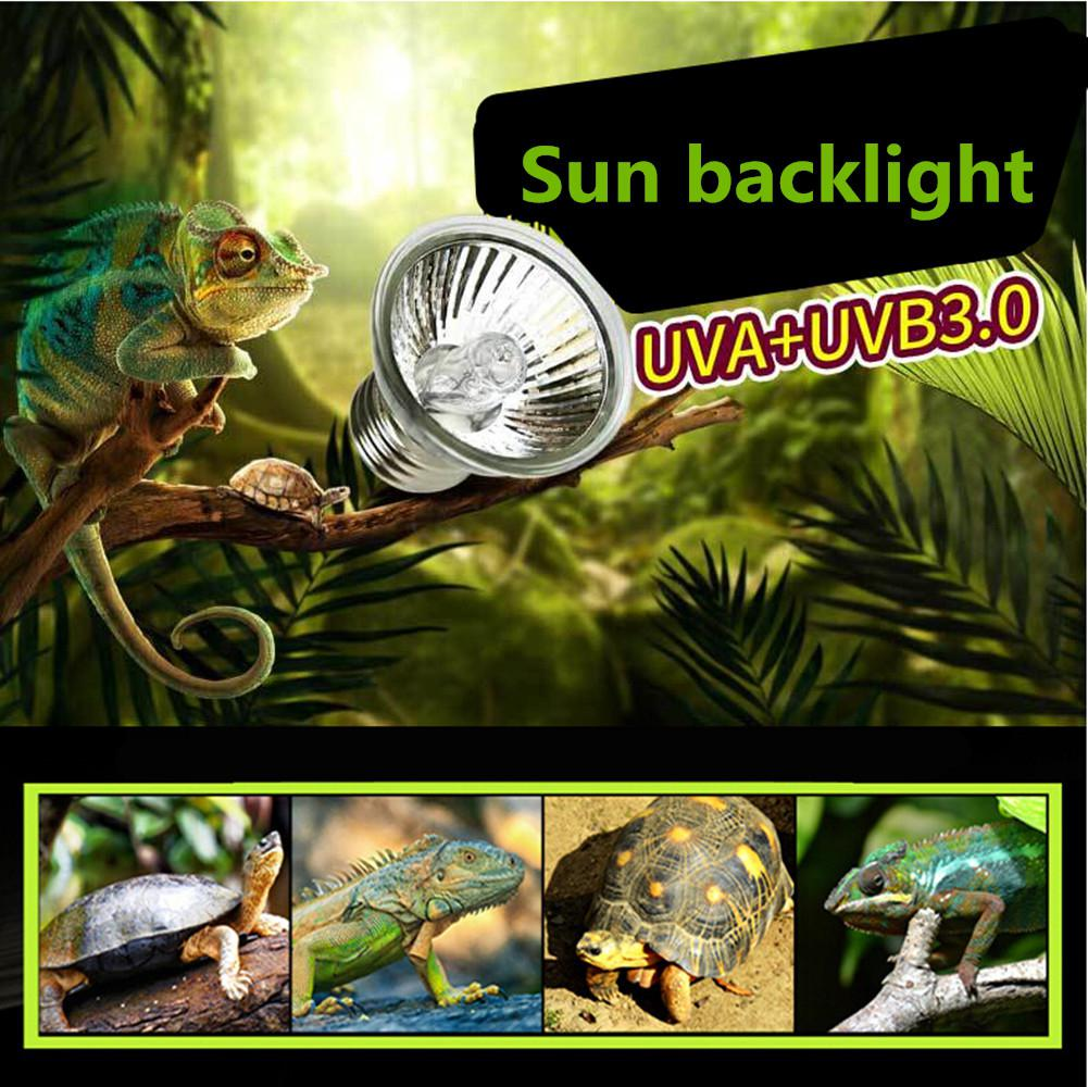 UVB+UVB 3.0 Reptile Lamp Bulb Turtle Basking UV Light Bulbs Heating Lamp Amphibians Lizards Temperature Controller