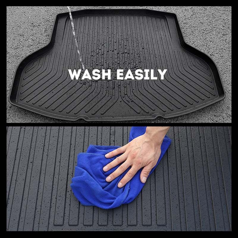 Rear Trunk Cargo Cover Boot Liner Tray Carpet Floor Mat Fits Waterproof Protector For Porsche Panamera MACAN Cayman enlarge