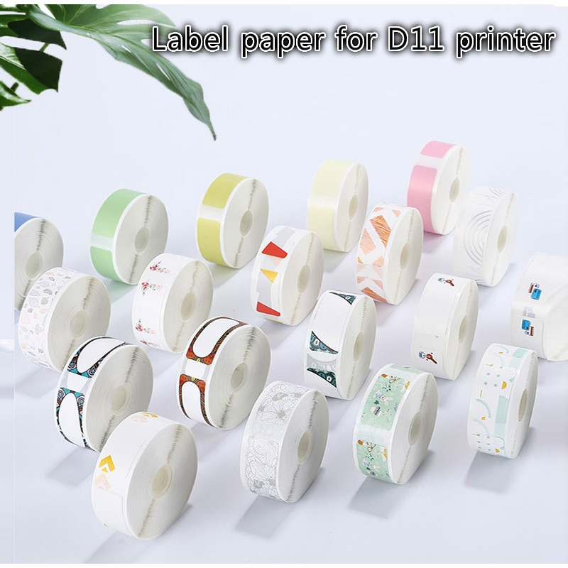 D11 Thermal Label Paper Supermarket Price Label sticker Waterproof Anti-Oil Tear-Resistant Pure Color Scratch-Resistant Labels mini label printer paper printing label waterproof anti oil price label pure color scratch resistant label sticker r50