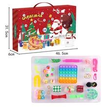 Fidget Toys 24 Day Christmas Advent Calendar Pack Anti Stress Toys Kit Children Stress Relief Blind