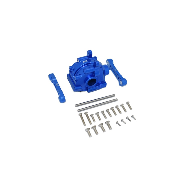 For LOSI 1/10 LASERNUT TENACITY ULTRA Aluminum Front Gear Box + Front Lower Arm Arm Code Set enlarge