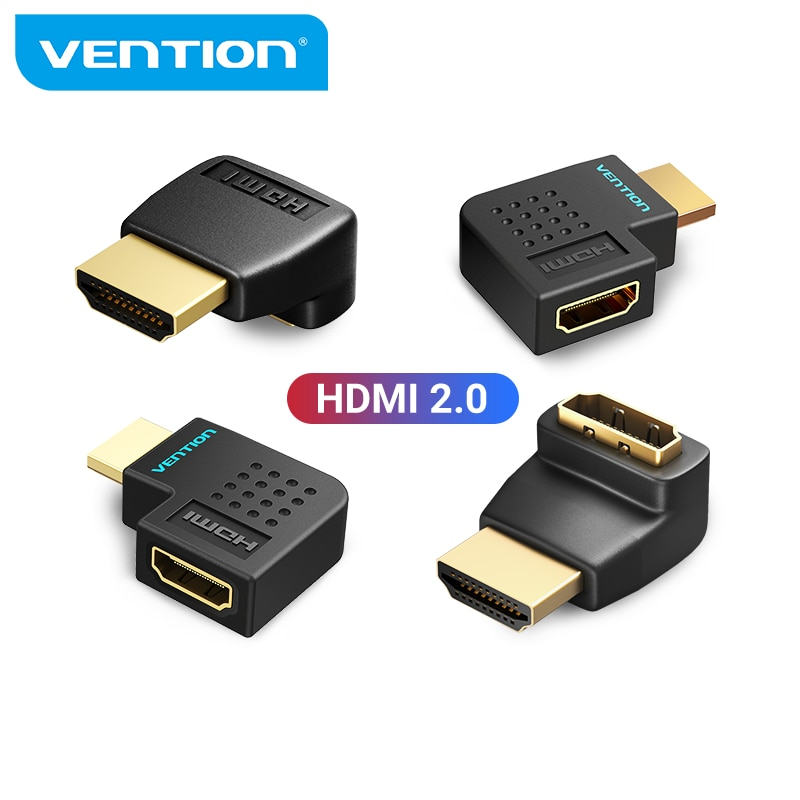 micro hdmi type d male left angled 90 degree to hdmi 1 4 male hdtv 1080p cable adapter converter cable Vention HDMI Adapter 270 90 Degree Right Angle HDMI Male to HDMI Female Converter for PS4 HDTV HDMI Cable 4K HDMI 2.0 Extender
