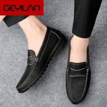 Man Leather Loafers Spring Pointed Toe Formal Shoes Men Italy Dress Shoes Size 38-44 Business Weddin