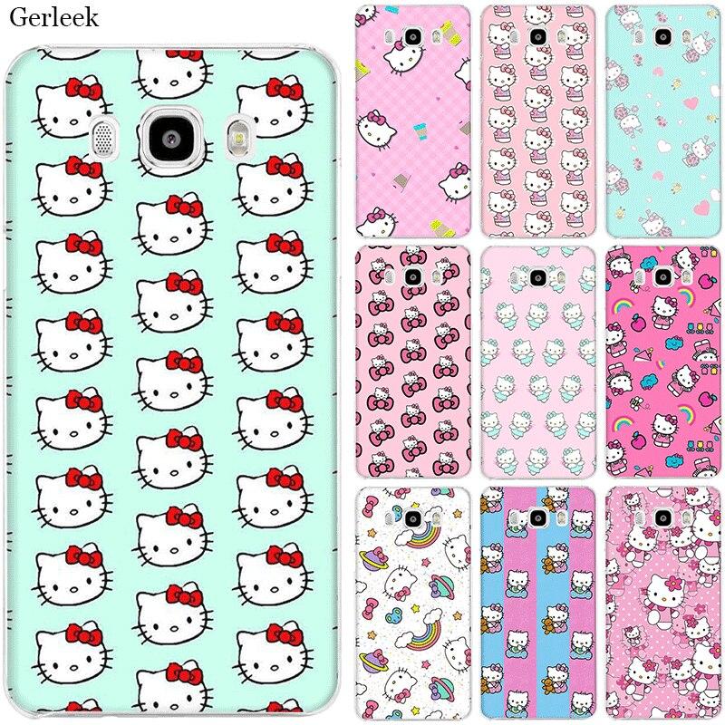 Funda de teléfono móvil para Samsung S7 Edge S8 S9 S10 S10e Note 8 9 10 Plus M10 M20 M30 M40, funda bonita de Hello Kitty
