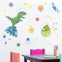 cartoon dinosaur wall stickers for kids room decoration decals nursery mural self adhesive childrens room decorative wallpaper