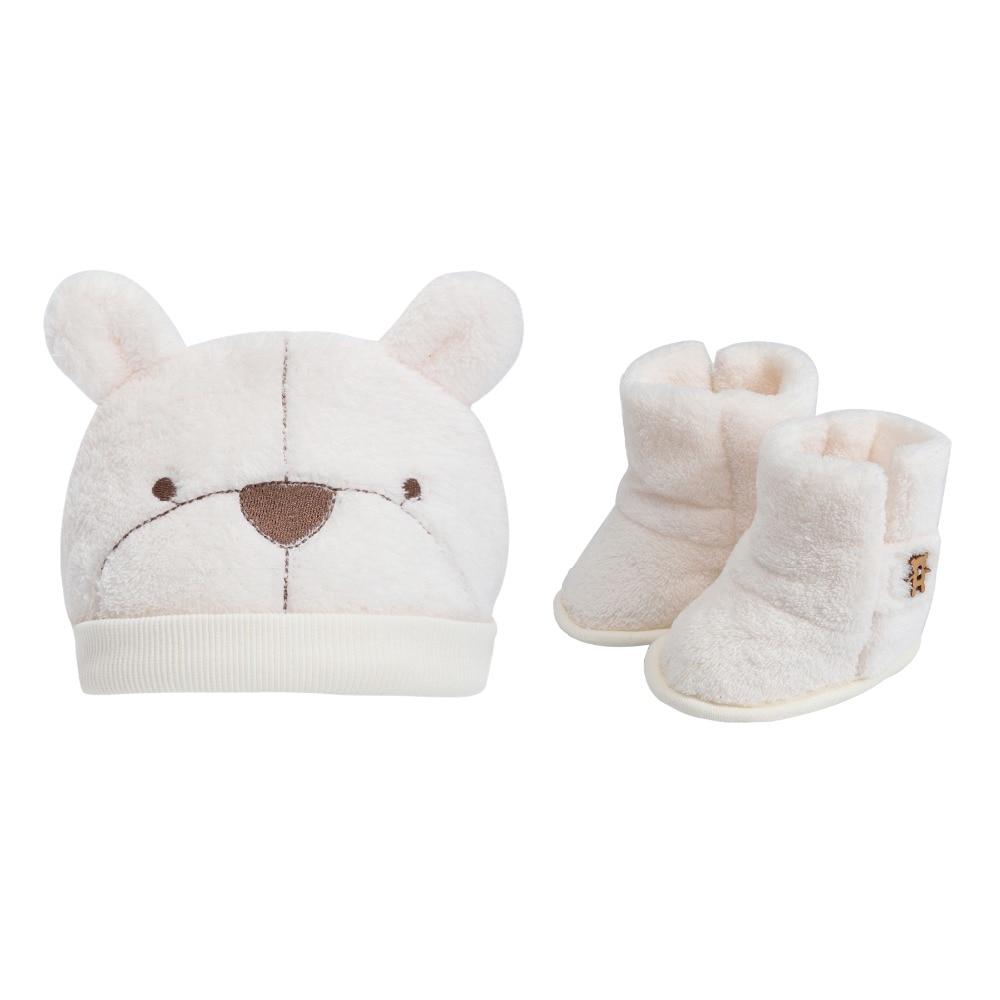 Animal Bear Photography Newborn Baby Hat and Socks Clothing Set Infant Costume Winter Shoes Warm Soft Plush Cap Plush Boots 0-3M