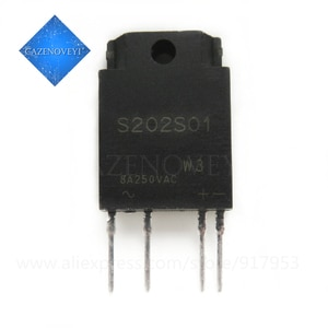 1pcs/lot S202S01F S202S01 RELAY SSR 240VAC 8A TRIAC 4-SIP Solid State Relays In Stock