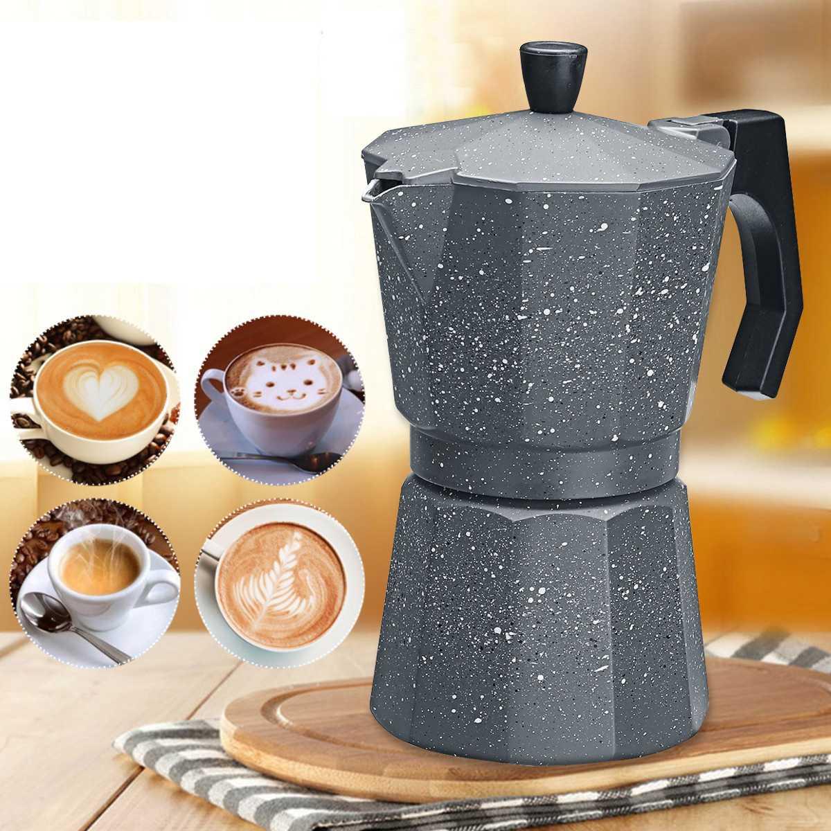 300ml 6 xícaras mocha italiana máquina de café durável moka cafeteira expresso percolador pote prático alumínio moka pote café ferramenta