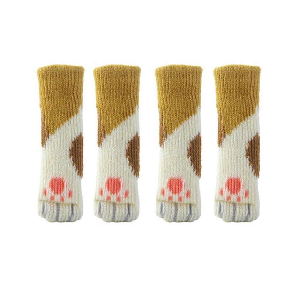 4pcs Style Chair Leg Socks Home Furniture Leg Floor Protectors Non-slip Table Legs cover prevent