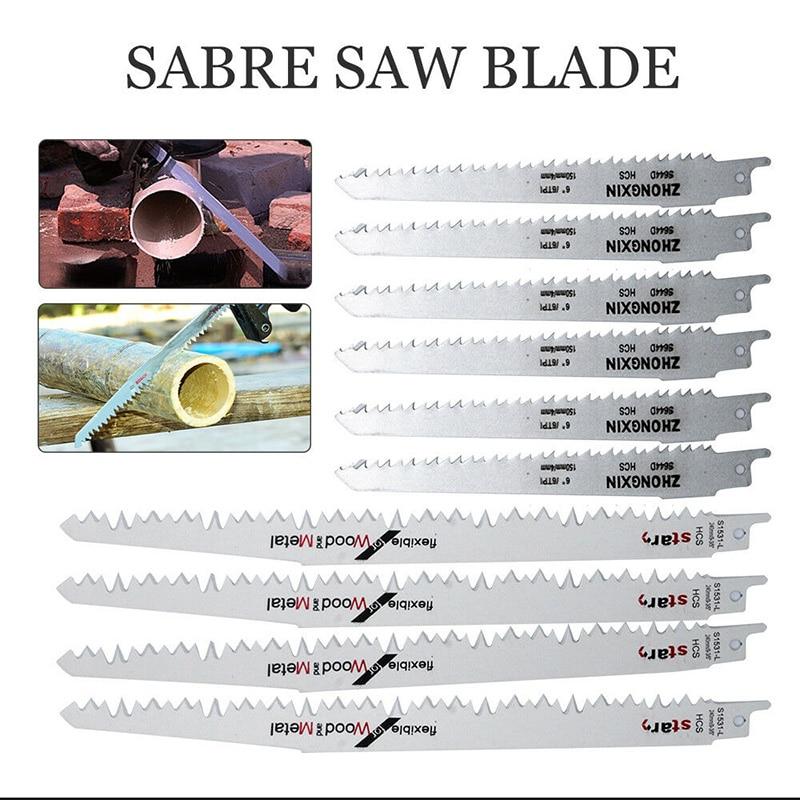 6 uds S644D + 4 Uds S1531 hojas de sierra de Saber Sierra de tigre para cortar Metal de madera MU8669