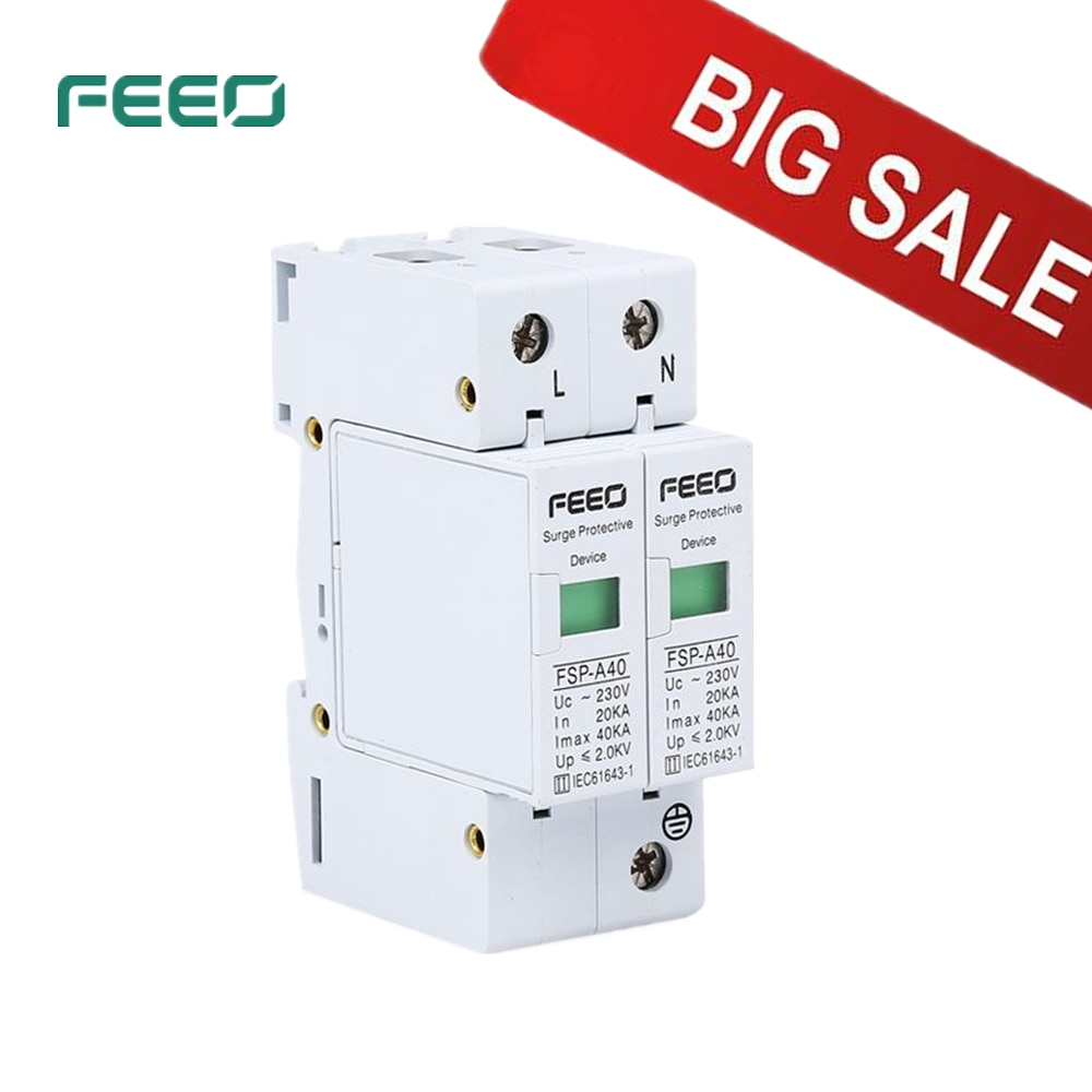 FEEO SPD AC 2P FSP-A40 protección contra sobretensiones 20-40KA 380 V/420 V