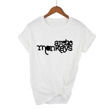 Monos árticos camiseta mujer 2019 verano Tops manga corta cuello redondo Camiseta mujer punk rock letra impresa camiseta