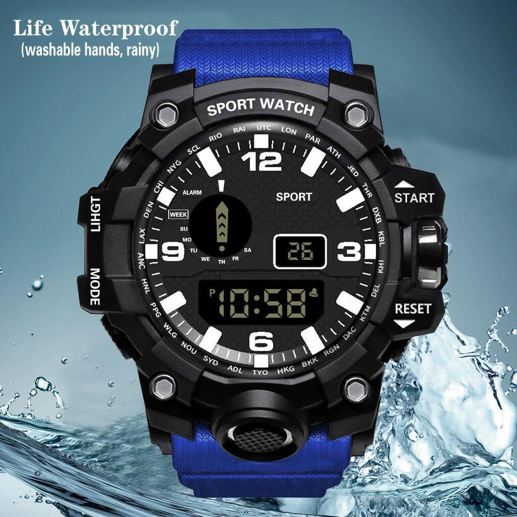 Relojes digitales casuales deportivos para hombres relojes HONHX reloj LED de lujo para hombres reloj electrónico de fecha de deporte para hombres reloj electrónico para exteriores reloj Masculino reloj