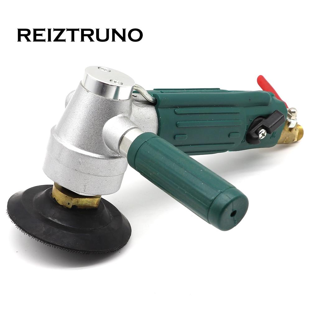 REIZTRUNO 1 Piece Air Wet Polisher Pneumatic Air Tool Water Sander Pneumatic Polisher With 1 Piece Rubber Backer Pad 3