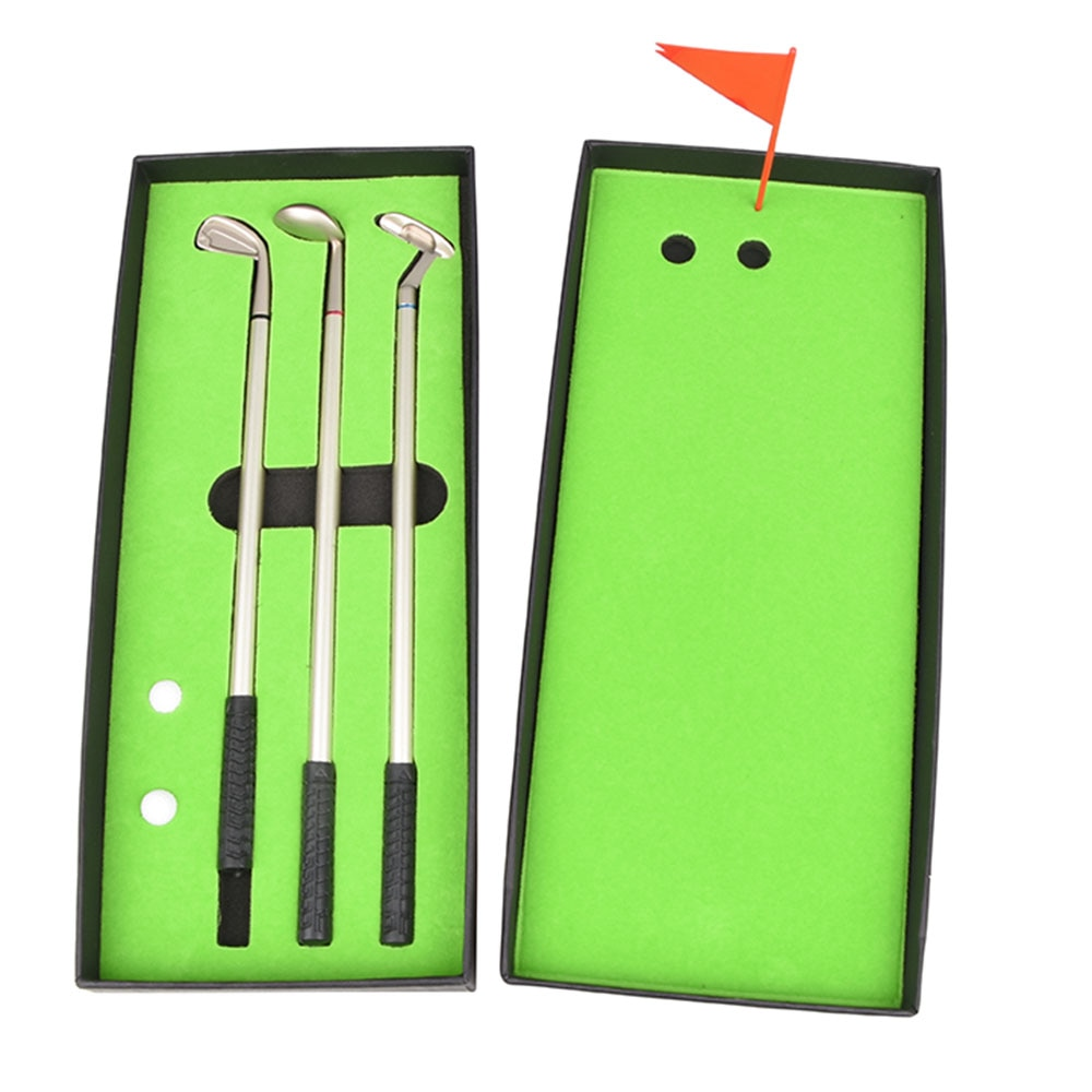 Simulated Golf Course Premium Mini Golf Pen Set Office Gift Men Ballpoint Golf Sport Ballpoint Creat