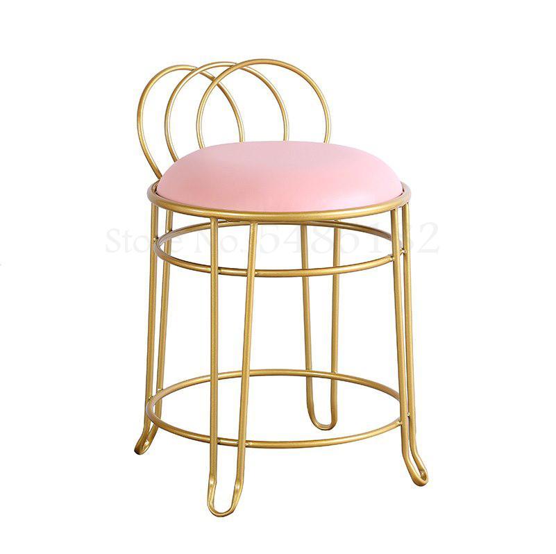 Luz de luxo penteadeira cadeira de maquiagem banqueta casa net vermelho ins fezes simples vestir fezes europeu prego cadeira