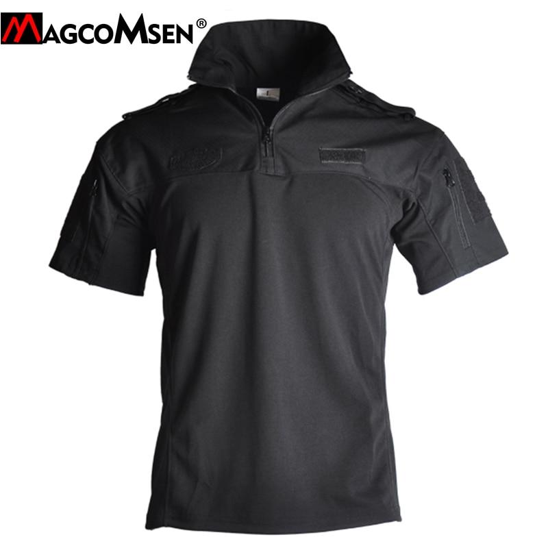 MAGCOMSEN, camisetas tácticas de camuflaje, camisetas de manga corta de algodón de verano para hombres, camisetas de combate del Ejército, camisetas de caza Airsoft, ropa militar
