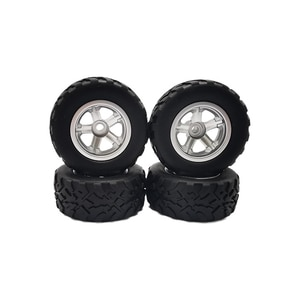 4Pcs Rubber Tires Wheel Upgrade for WPL D12 1/10 RC Truck Car Parts