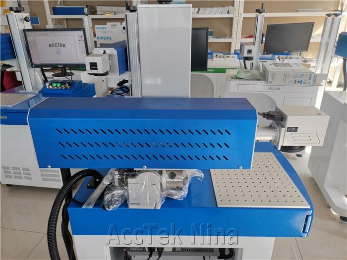 Desktop model RF Metal Tube 30W Co2 Laser Marking Machines For Coconut Curve enlarge