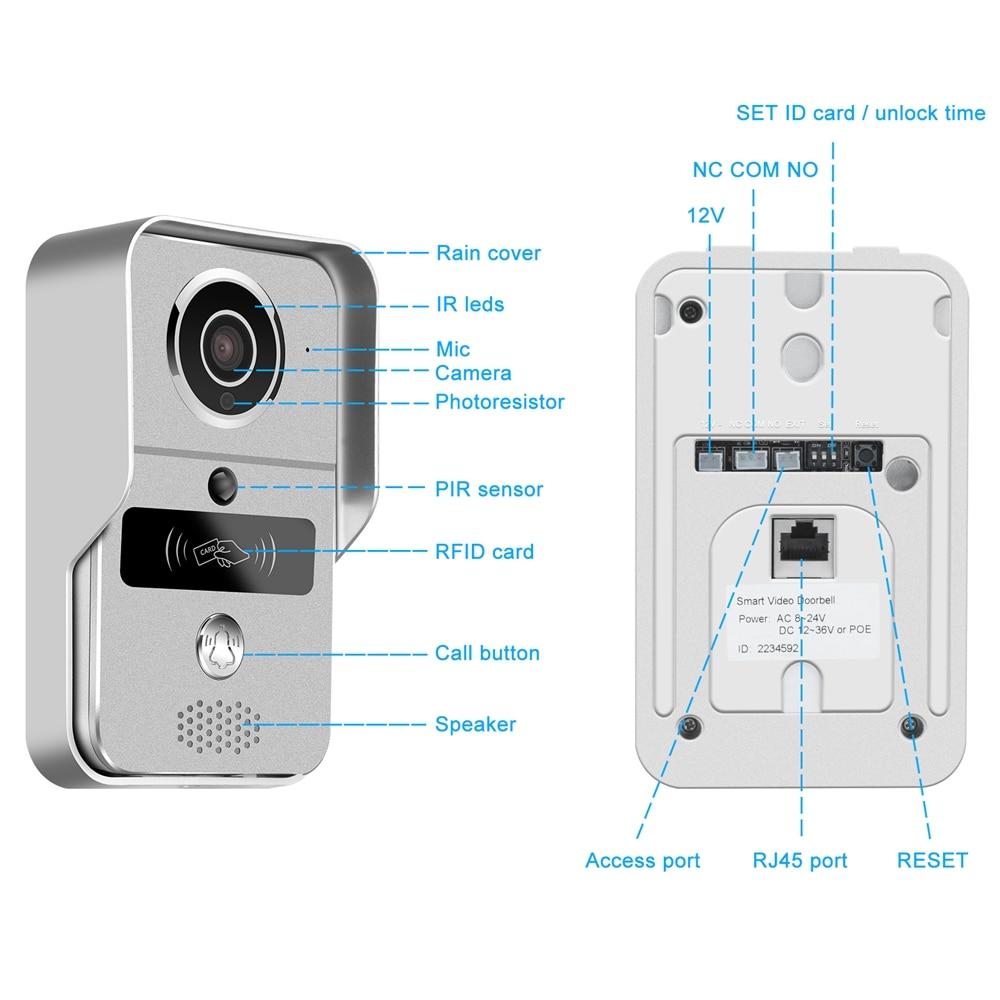 WiFi Intercom Wireless IP Door bell 150° Wide Angle Smart Video Door Phone With Electronic Lock For Home Security Kit enlarge