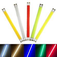 Nouveau LED COB 80x7.5mm 3.7v 3W blanc chaud blanc bleu rouge vert pour la maison voiture lumière bricolage cob LED bande barre ampoule source de lumière