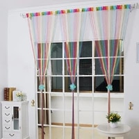 multi color line curtain indoor decor room divider strip tassel string for living room door wall window panel tassel curtain