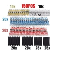 150pcs heat shrink soldering sleeves tubes waterproof insulated wire splice connector awg26 100 5mm2 6mm2 terminals
