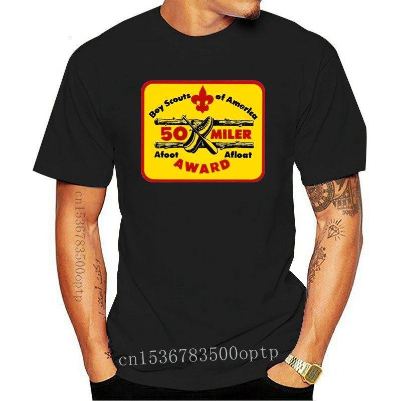 Boy Scouts 50 Miler Afoot Afloat Award Decal T-Shirt - Varsity, Merit